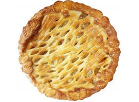 Пирог с яблоками и лимонными корочками