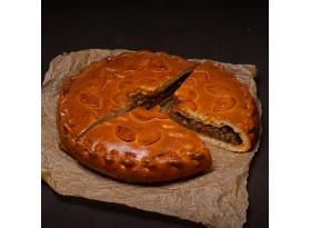 Пирог болоньезе с баклажанами